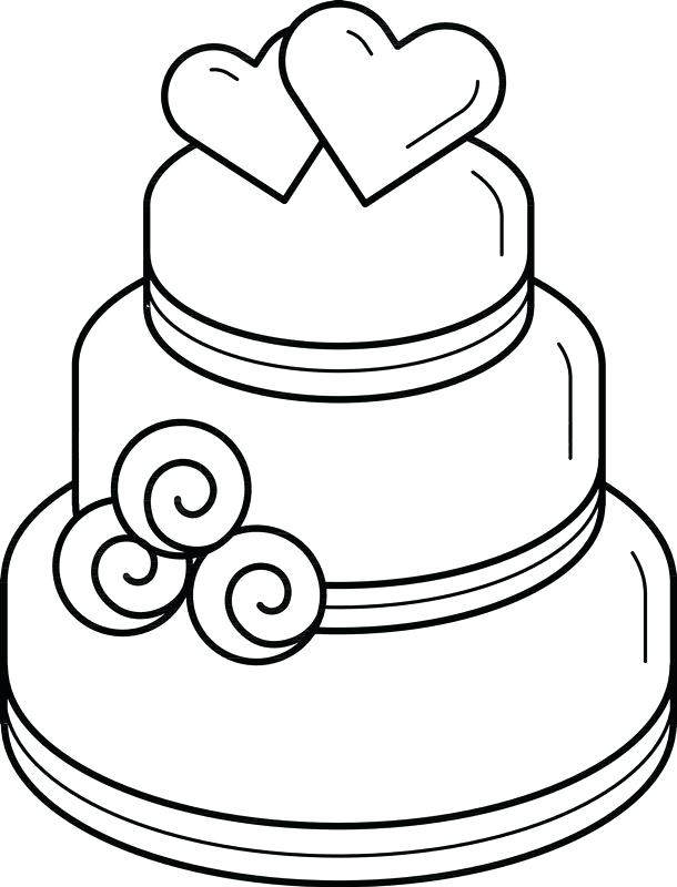 610x800 drawing of a wedding cake wedding cake drawing template