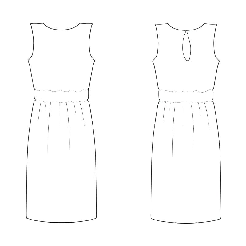 800x800 Fashion Sketches For Dress Designing Design Template School Free
