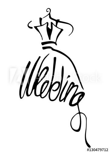 362x500 Fashion Design Illustration Hand Drawn Woman Wedding Dress