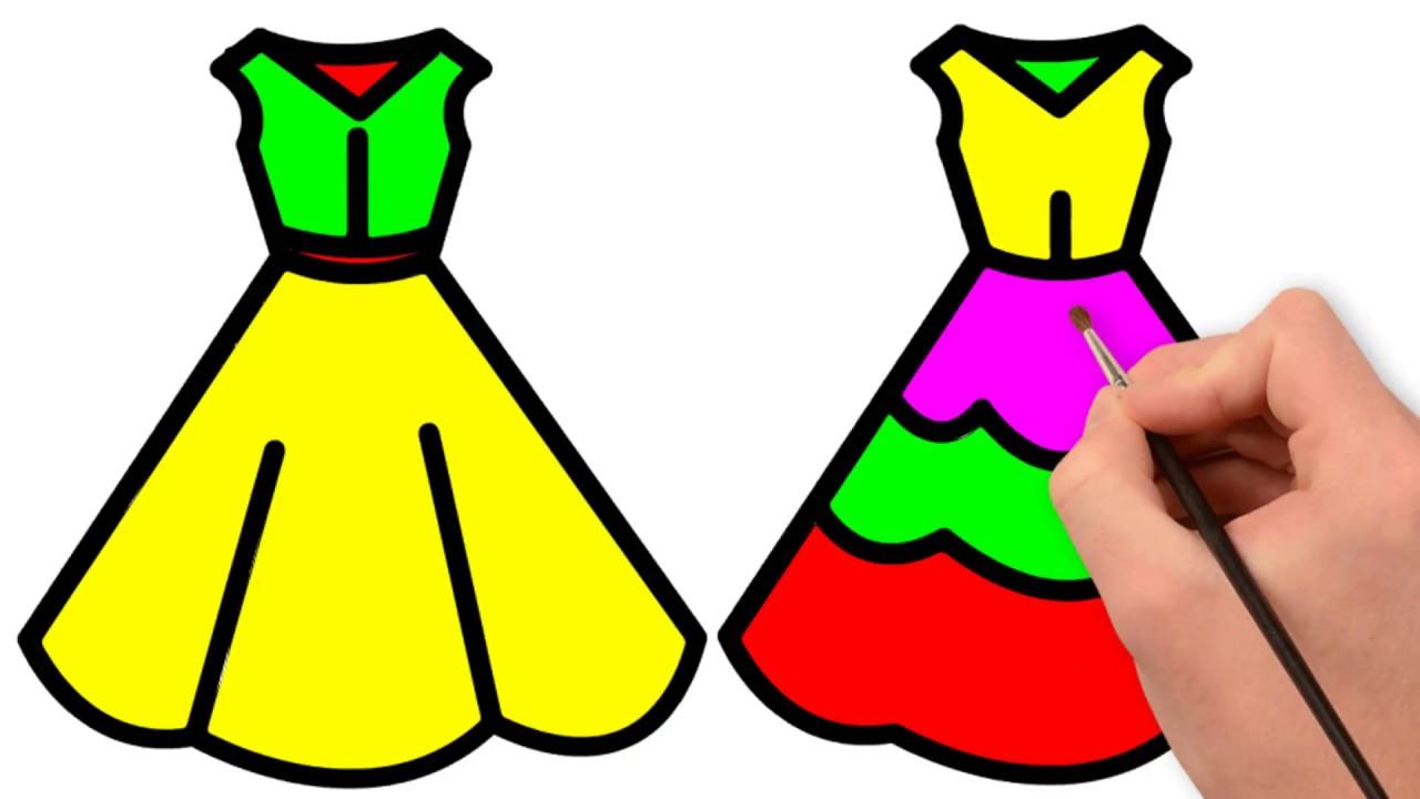 1280x720 how to draw dress for kids dress drawing wedding dress