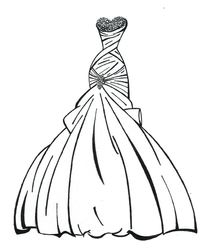 728x877 wedding dresses coloring pages wedding dress coloring pages
