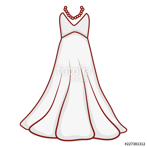 500x500 Wedding Dress Drawing Stock Image And Royalty Free Vector