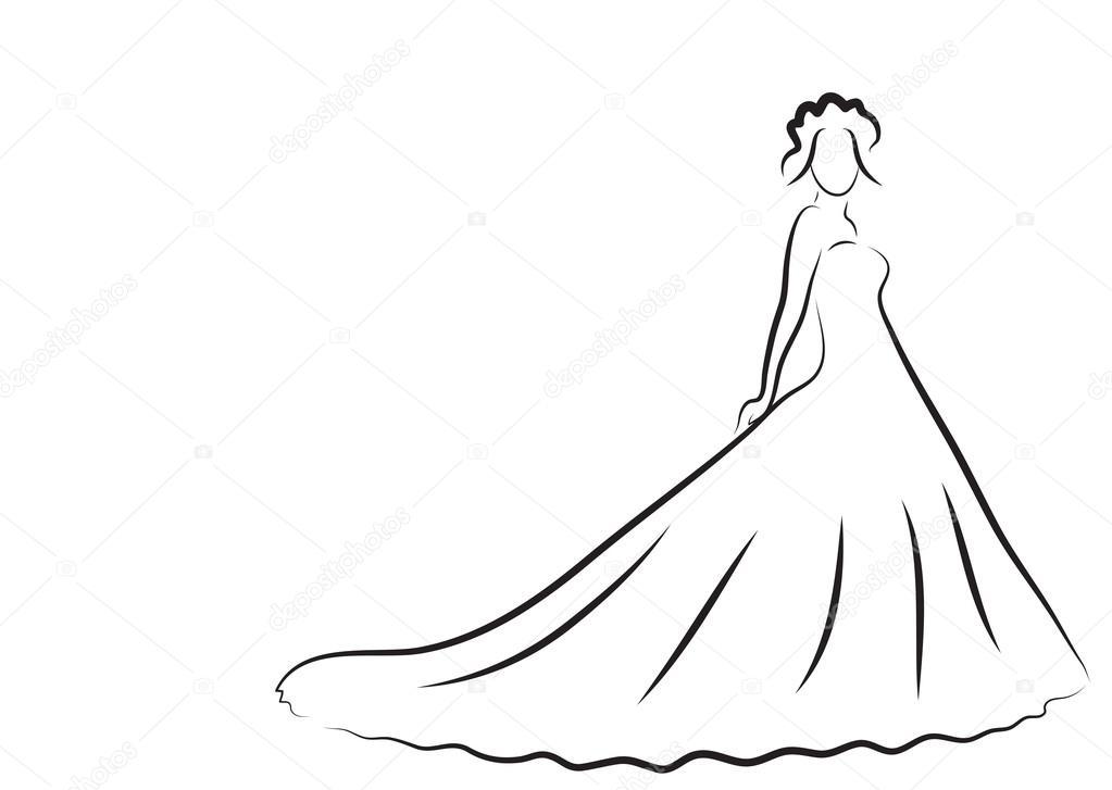 1023x727 Bride Drawing Marriage For Free Download