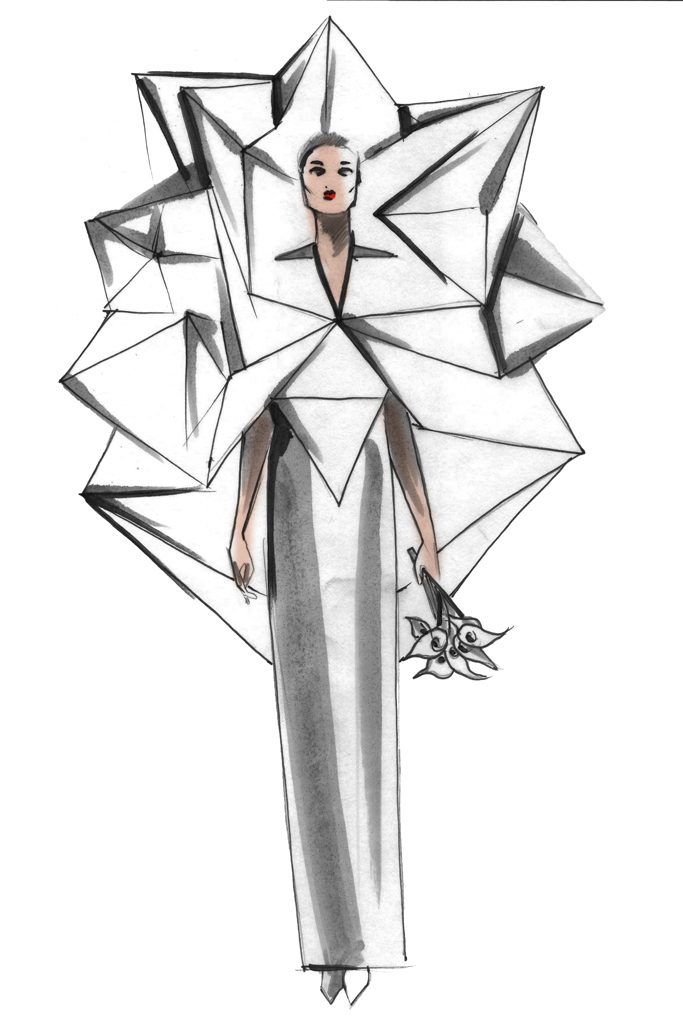 683x1024 Lady Gaga's Lucky Wedding Dress Designer Styleft Style Fashion