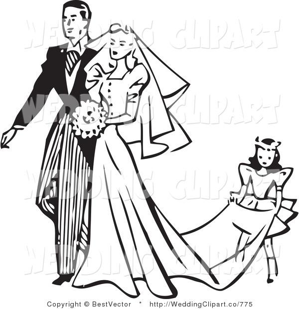 600x620 Clip Art Black And White Wedding Veil Clipart