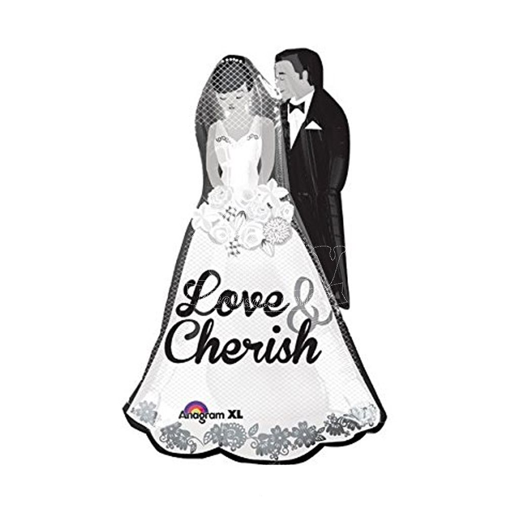 1024x1024 Wedding Bride Groom Love Cherish Balloon Party Wholesale