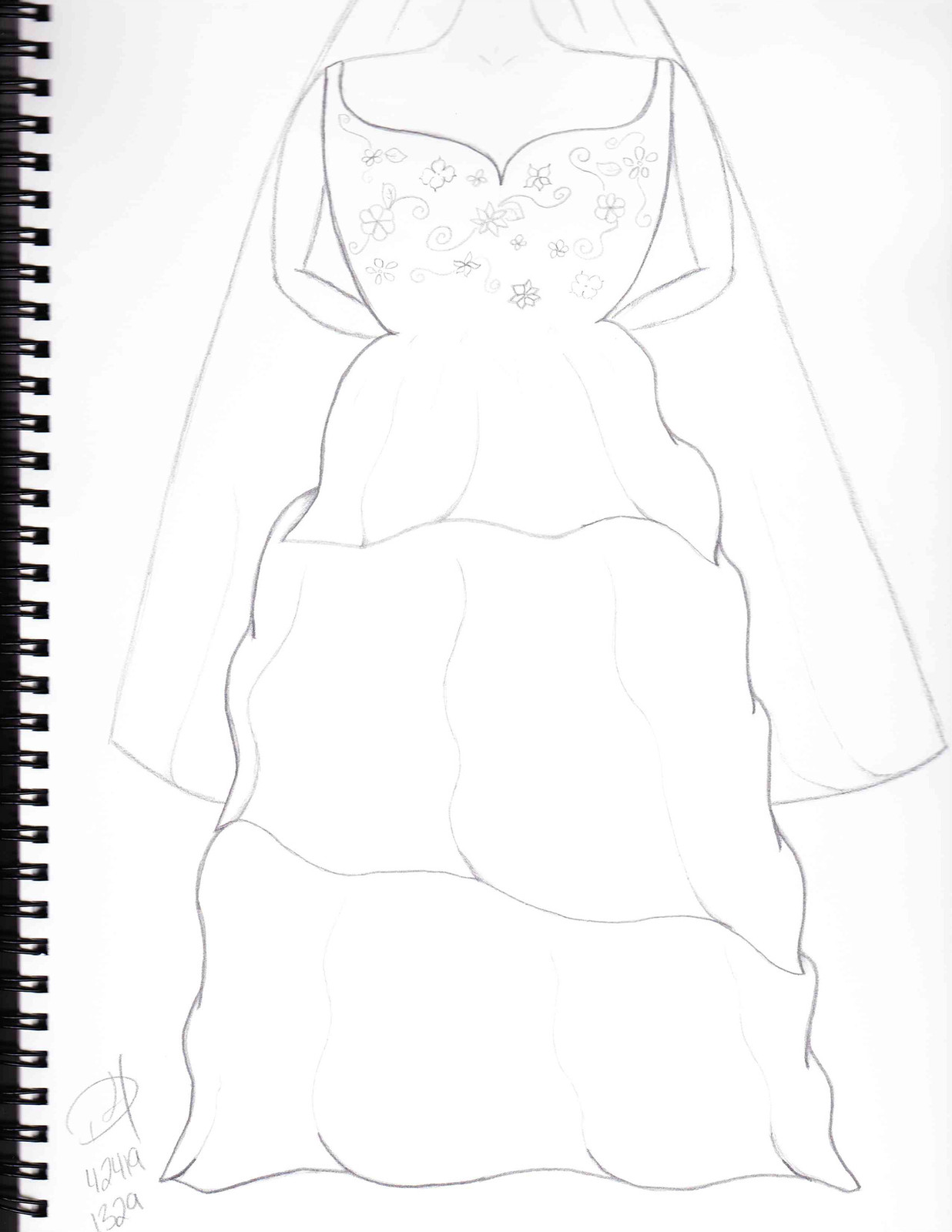 1236x1600 Wedding Dress Sketches Destined For Heights