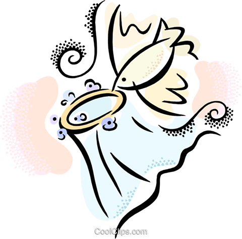 480x475 Bird With A Wedding Veil Royalty Free Vector Clip Art Illustration