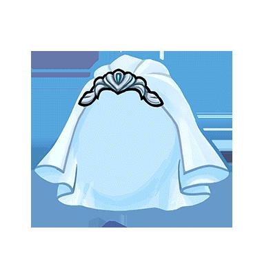 380x380 Blue Wedding Veil