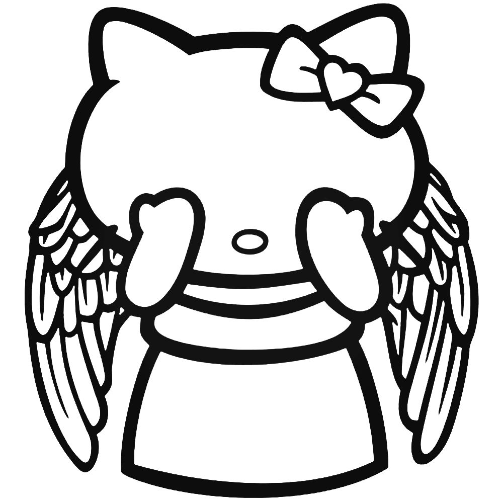1000x1000 Hello Kitty Doctor Who Weeping Angel Decal