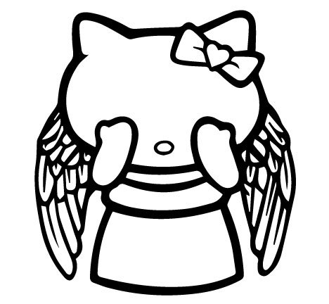 468x432 Hello Kitty Weeping Angel Vinyl Decal