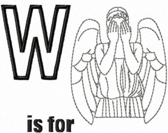 340x270 Machine Embroidery Design Weeping Angel Etsy