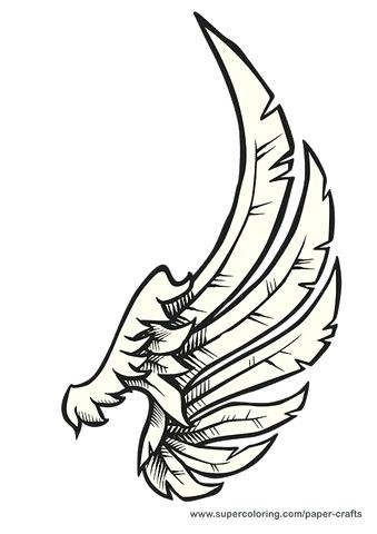 339x480 Angel Drawing Template Of A Tree Templates Cut Out Wings