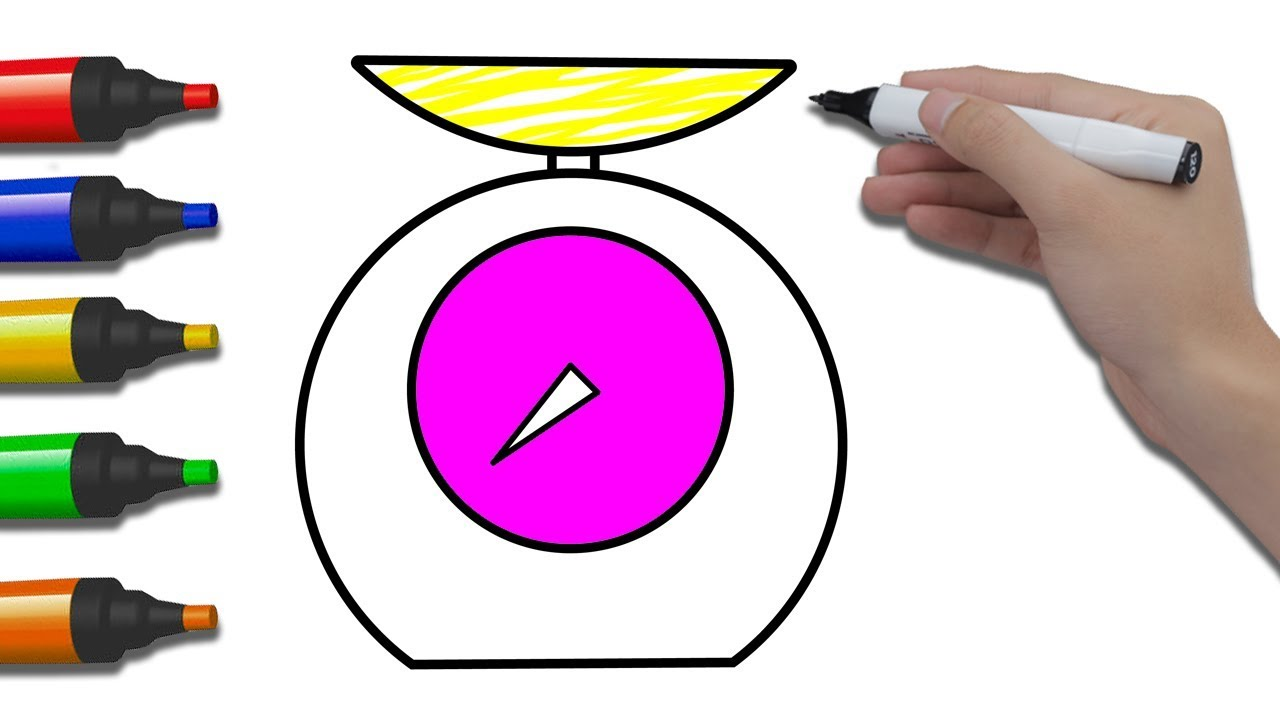 1280x720 how to draw weighing scale for children coloring pages scale