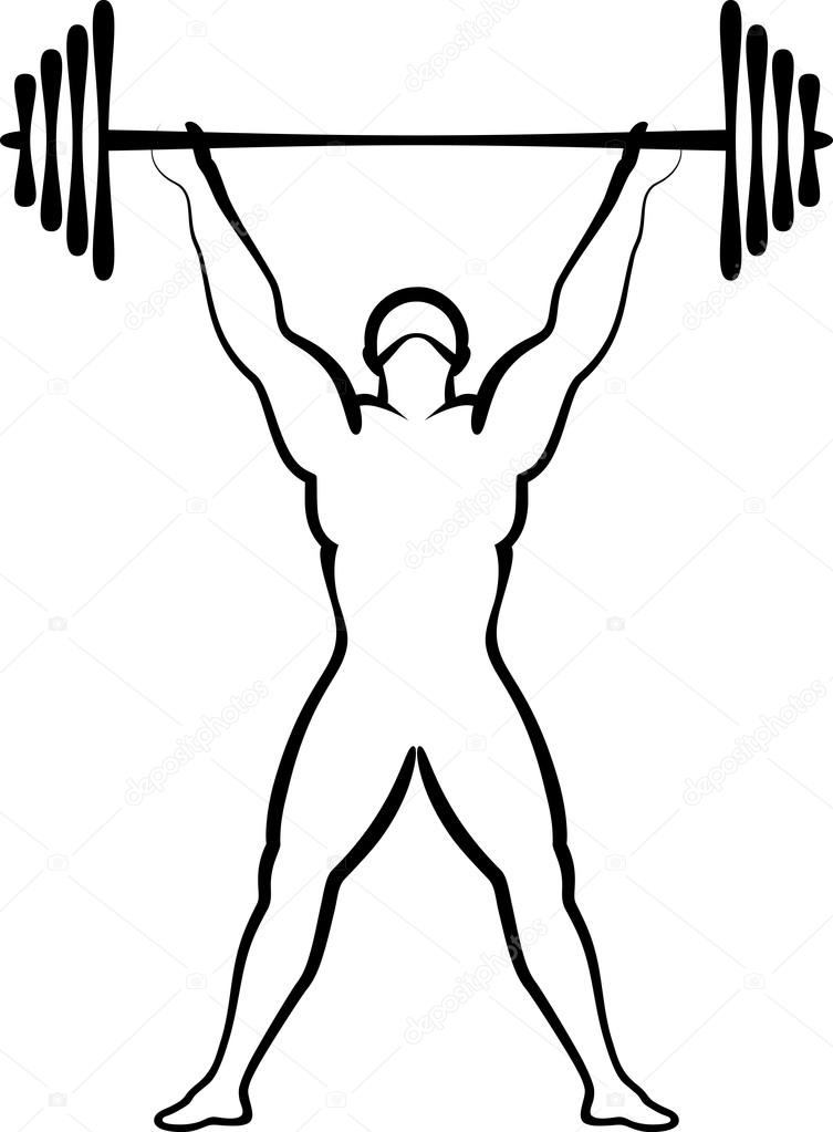 Weightlifting Drawing