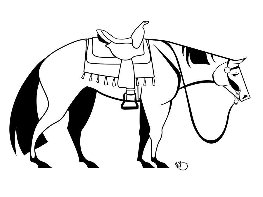 Western Horse Drawings