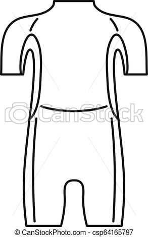 293x470 diving wetsuit icon, outline style diving wetsuit icon outline