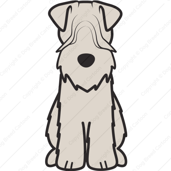 600x600 soft coated wheaten terrier dog cartoon soft coated wheaten