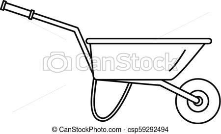 450x273 farming wheelbarrow icon, outline style farming wheelbarrow icon