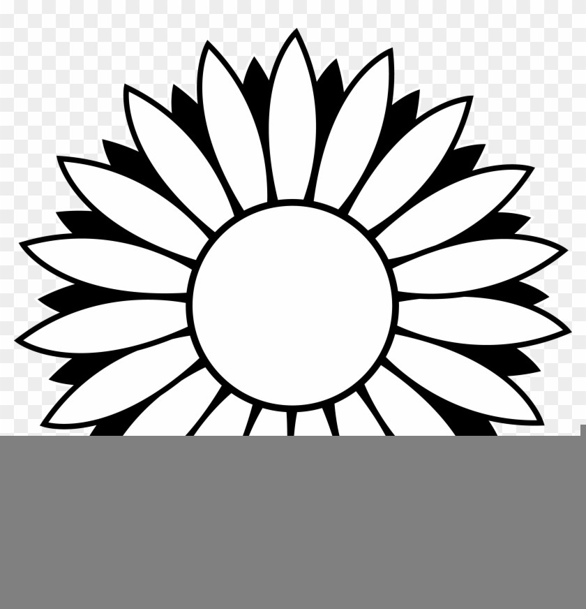 840x872 Flower Pictures Clip Art Black And White