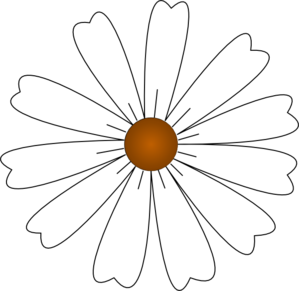 299x291 White Daisy Clip Art