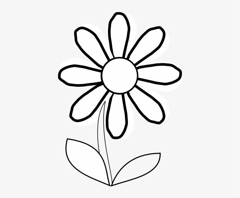 820x678 White Daisy With Stem Clip Art At Clker Com Vector