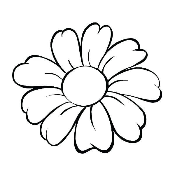 600x627 flower drawing outline flower drawing clip art flower outline