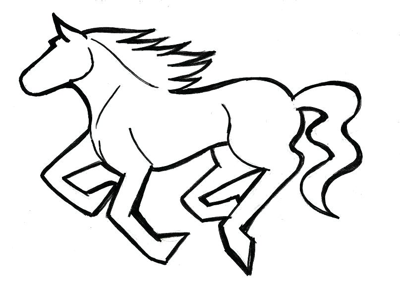 807x581 mustang horse drawing horse drawing mustang horse drawing pages