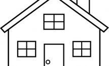 215x130 house clip art house black and white house clipart black