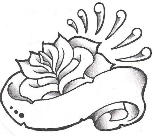 495x442 Black And White Rose Drawings