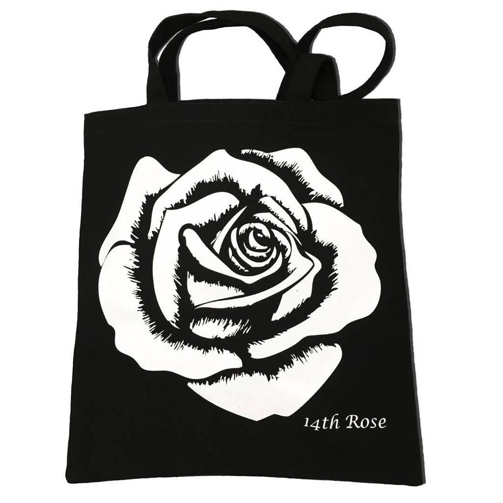 1024x1024 White Rose Tote Made In America