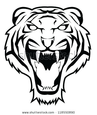 398x470 tiger face outline line drawing of tiger face tiger face outline