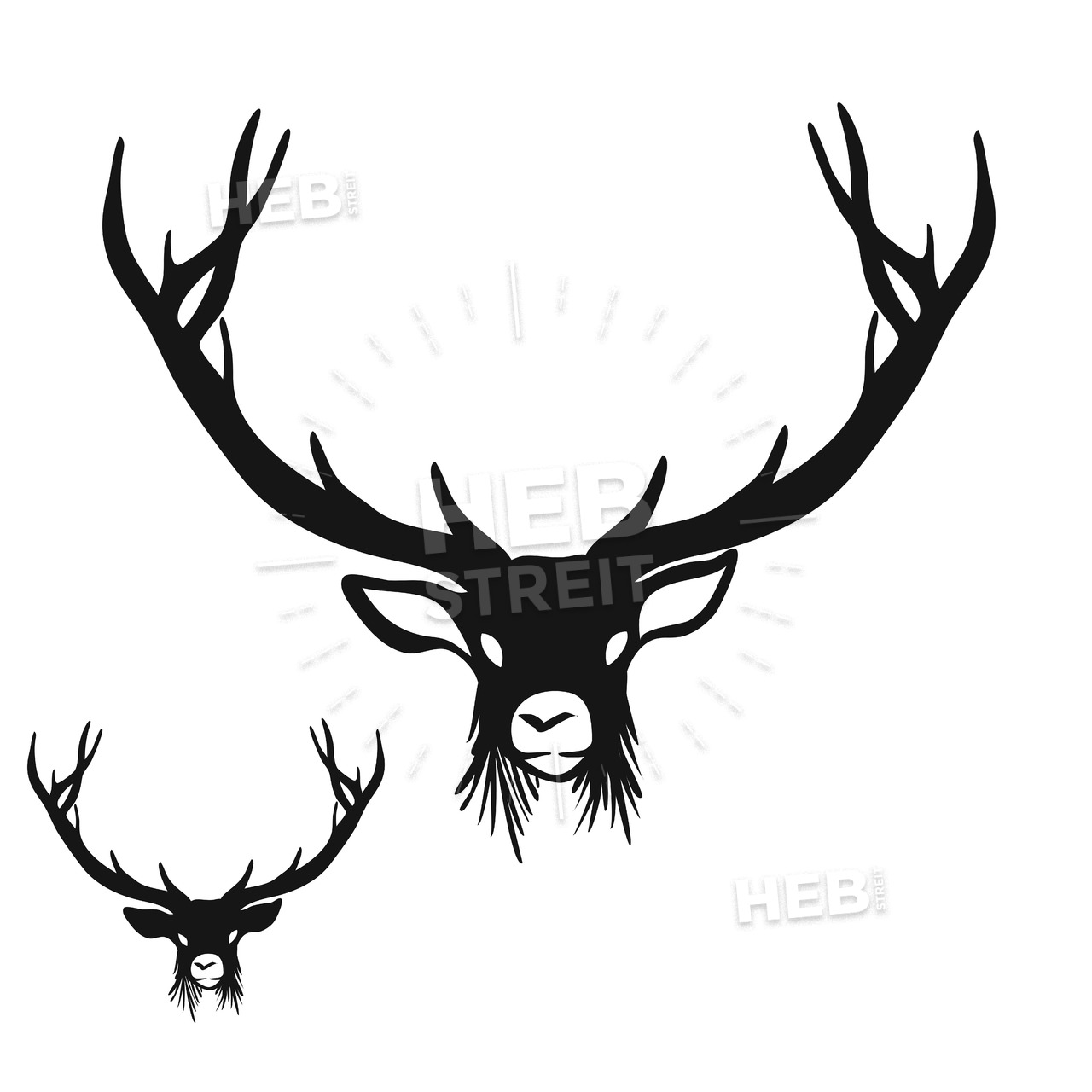 1280x1280 Huge Collection Of 'how To Draw A Deer Head Silhouette' Download