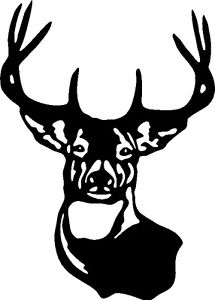 215x300 Large Typical Whitetail Deer Buck Point Antler Car Wall Decal