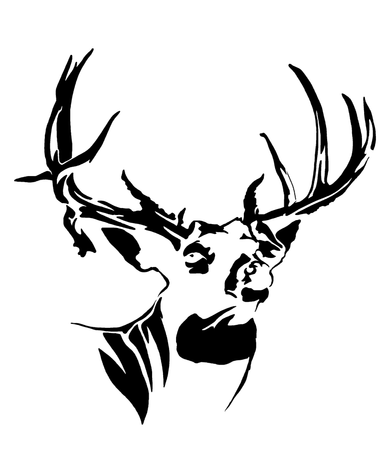 780x936 whitetail mossy buck deer decal hunt to live, live to hunt