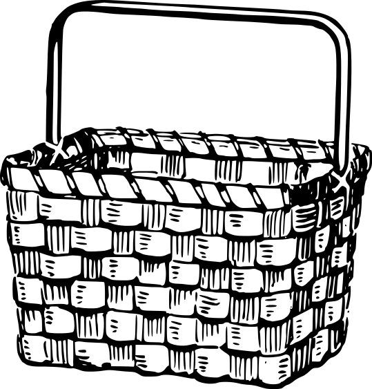 539x563 Collection Of Free Basket Clipart Wicker Basket Amusement
