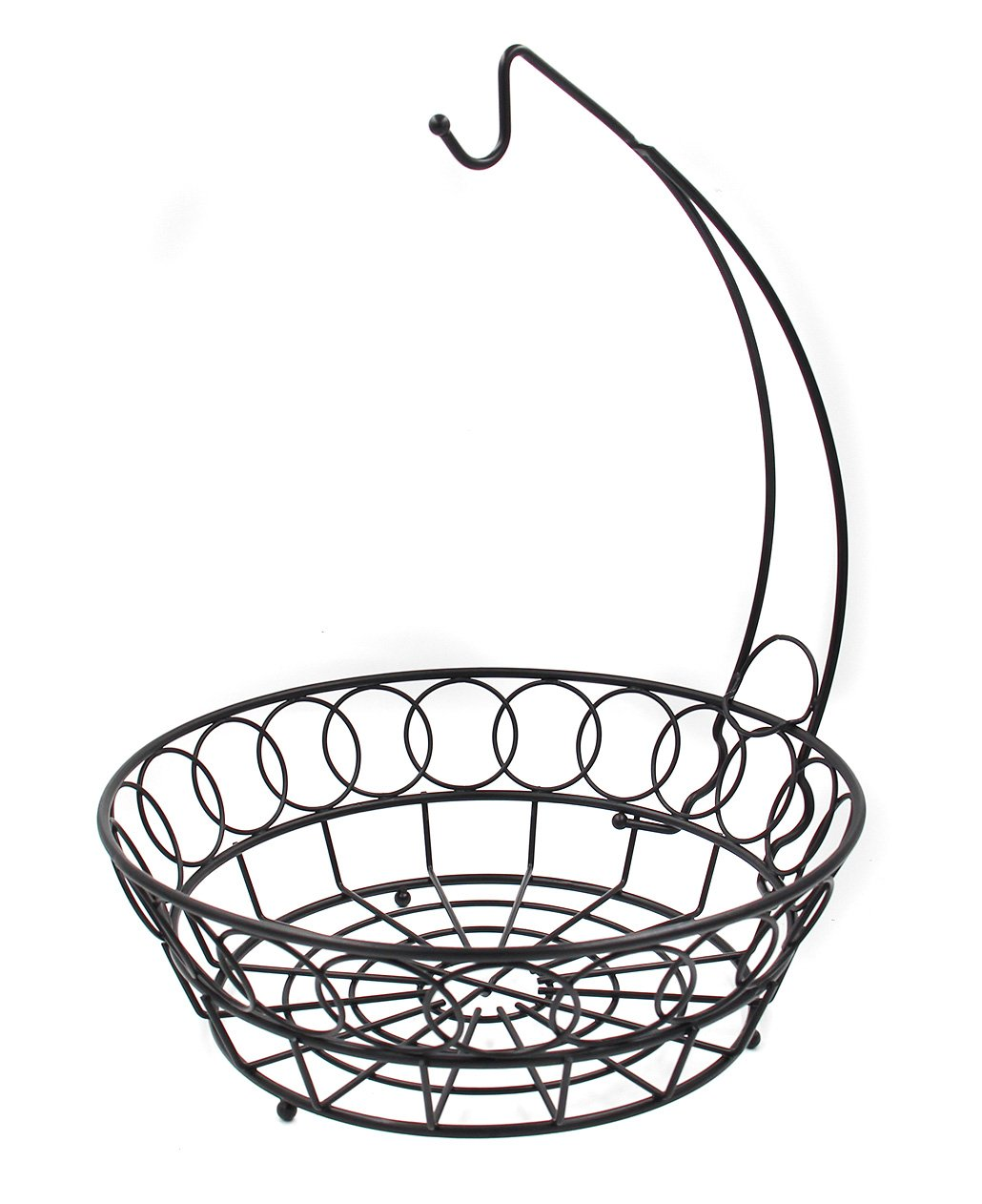 1030x1262 Esylife Fruit Basket With Banana Hook Metal Fruit Bowl Display