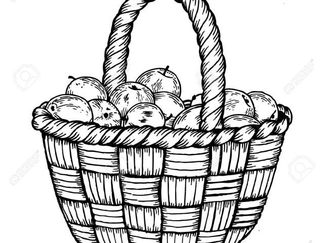 640x480 Free Drawn Basket, Download Free Clip Art