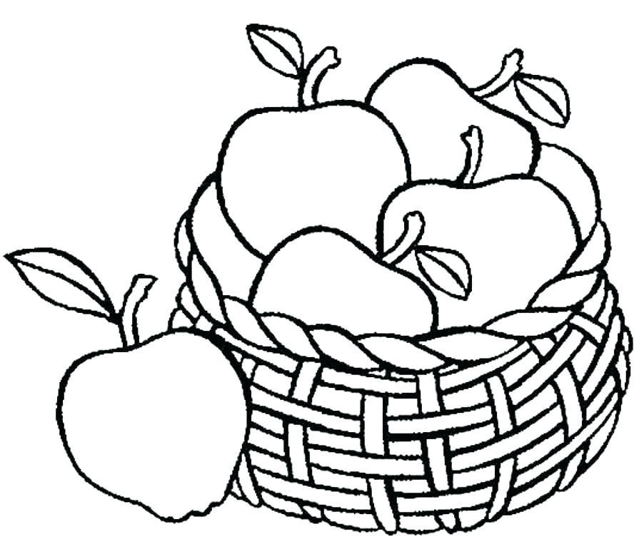 902x770 Fruit Basket Coloring