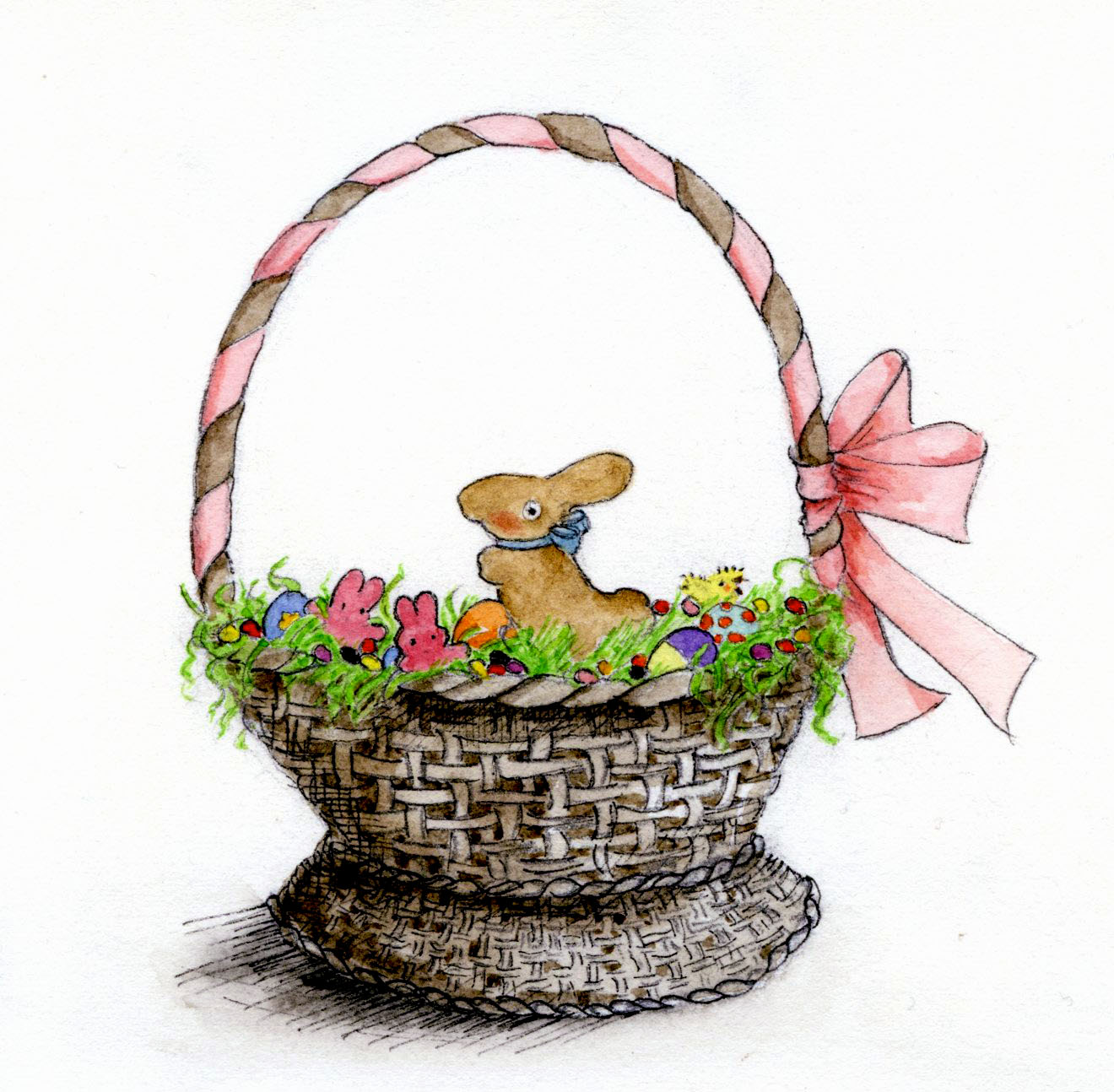 1320x1294 How To Draw And Paint A Treat Filled Easter Basket