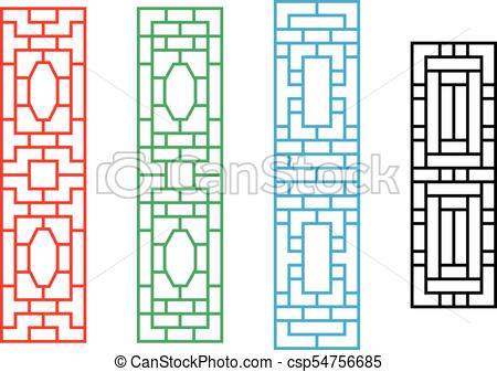450x337 chinese rectangle window frame in vector design chinese rectangle