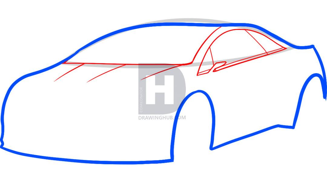 1080x625 How To Draw A Cadillac Elr, Cadillac Elr, Step