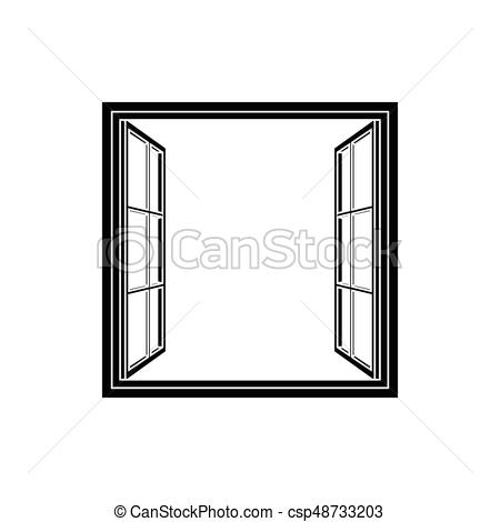 450x470 Open Window Frame Icon Add Your Own Image Or Text Vector