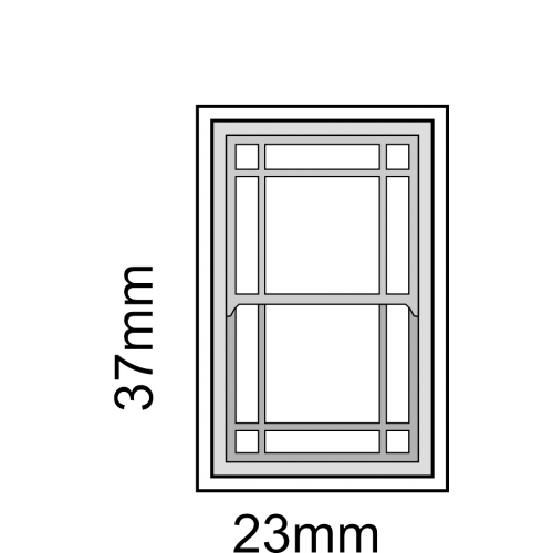 500x500 Scale Sash Window Frame Kit