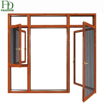 350x350 Standard Powder Coating High Grade Brown Aluminium Frame Swing