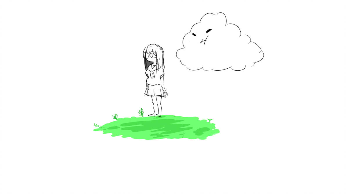 Windy Day Drawing