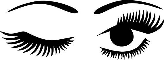 570x209 winking eyelashes digital download winking eye with lashes digital