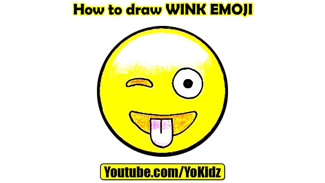 1280x720 How To Draw Wink Emoji With Yokidz