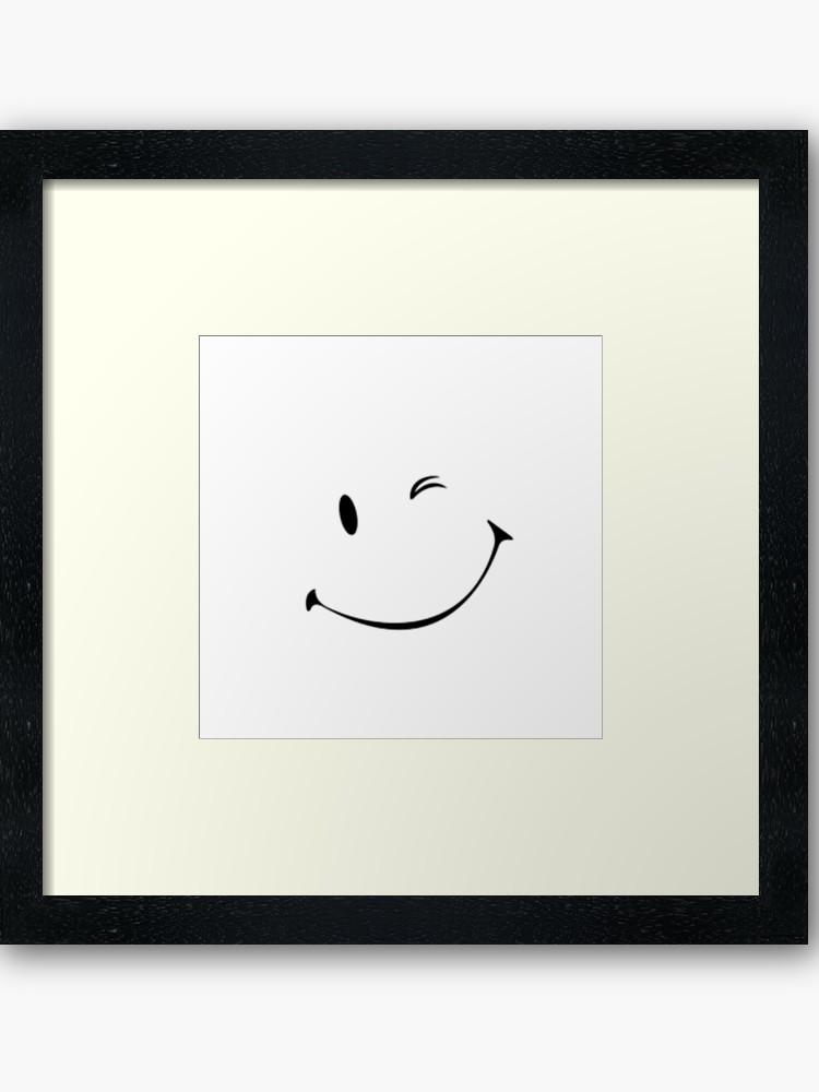750x1000 Winky Face Framed Art Print