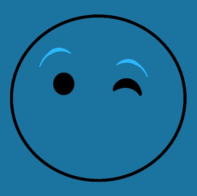 680x678 How To Draw A Wink Emoji